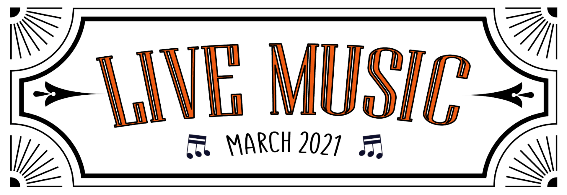 Live music web banner-march